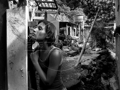 Rocinha in Black and White