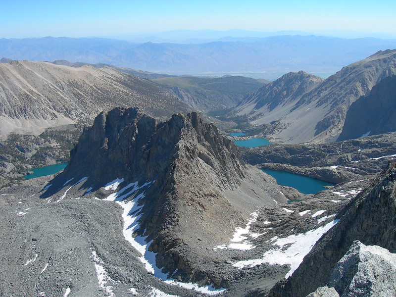 (2005 August 31-September 2) Knapsack Pass, Agassiz Summit, Dusy Basin.  KCNP, California.
