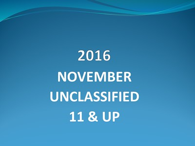 2016 November Unclassified - 11 & Up