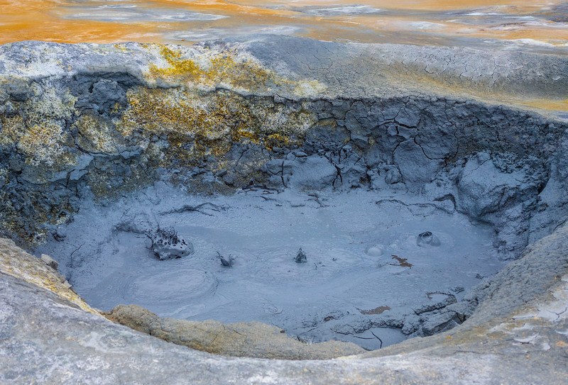 The geothermal area of Hverir,just outside Lake Myvatn.