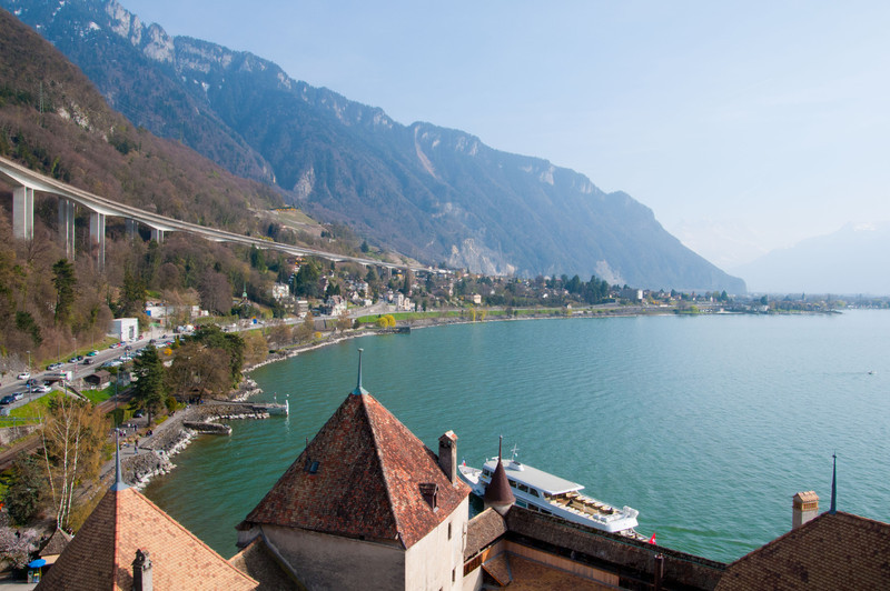 A view from the keep of Chillon Castle (after a few staircases!)
