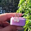 1.51ctw Diamond Mosaic OEC Dangle Earrings 9