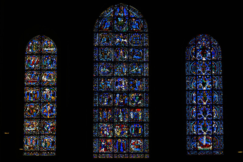 Chartres Cathedral West Lancet Windows