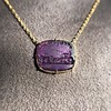 'Push Along' Purple Glass Pendant, by Seal & Scribe 15