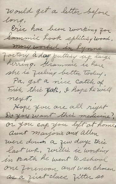 To Joseph Snowdeal from his mother Nellie Fish Snowdeal Sept 13 1942