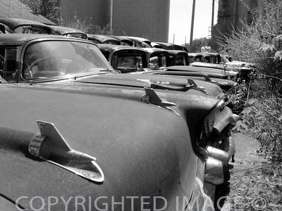 Vintage Cars (B & W)