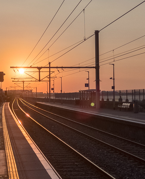 Train Station at Sunset