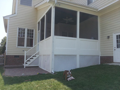 Sanchez Screened Porch makeover