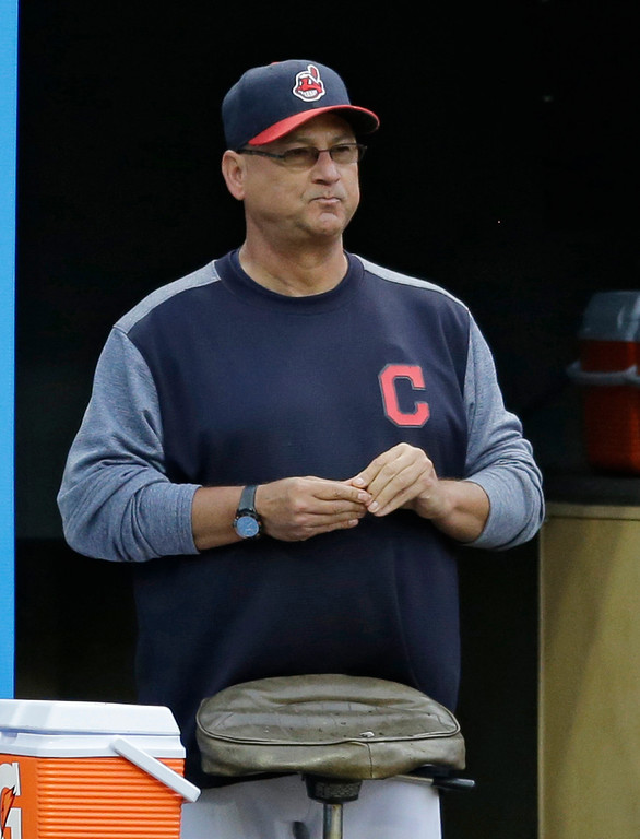 . Cleveland Indians manager Terry Francona watches during the third inning of a baseball game against the Texas Rangers, Wednesday, June 28, 2017, in Cleveland. (AP Photo/Tony Dejak)