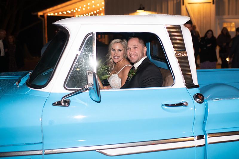 Vintage Truck Wedding Getaway