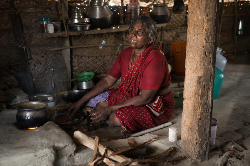 Rani, 60 years old she was 6 years old during cyclone. Her husband is fisher man. Fisher men stayed in Periya Kuchadi near Palam due to cyclone. Port was also close by. They walked all the way to Rameswaram while water was till shoulder. Delivery.jpg