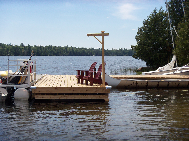Our Motorboat Dock, where all boys are welcomed to the Island on the Big Moment!