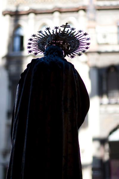 Virgin Mary statue, Corpus Christi procession, Seville, Spain, 2009.