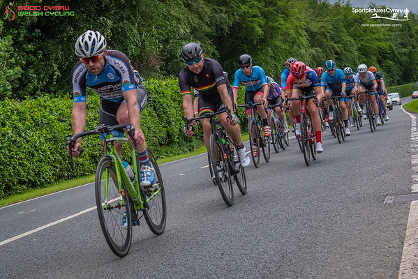 Welsh Cycling Road Race Championships - Lap 1 at 25 Miles