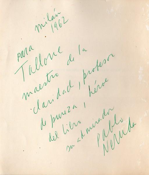 Pablo Neruda to Alberto Tallone