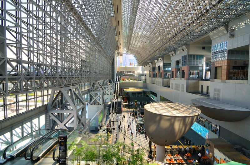Kyoto Station. Editorial credit: Sean Pavone / Shutterstock.com
