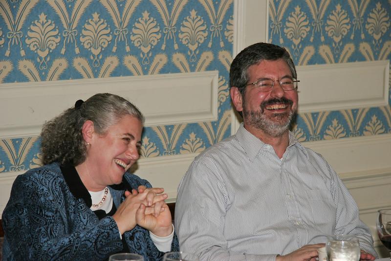 Jane & Jeff enjoy a laugh at Whitemore House -- Thanksgiving 04
