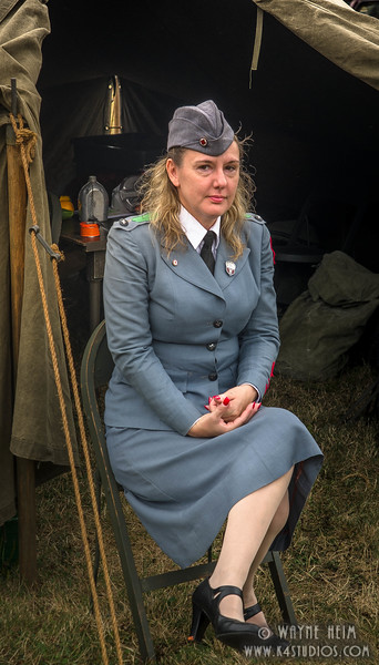 Portrait of Lady in Military   Photography by Wayne Heim