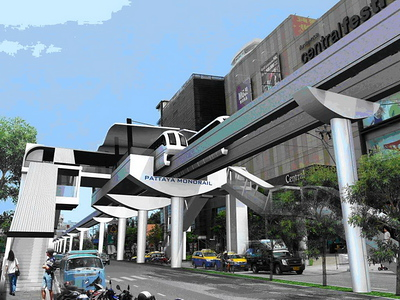 Pattaya Monorail at Central Festival