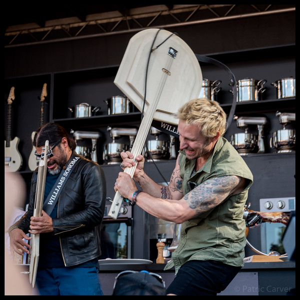 55 Robert Trujillo and Mike Dirnt at the Williams Sonoma Culinary Stage at BottleRock Day 2 by Patric Carver.jpg