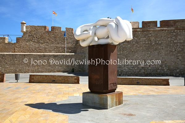 MELILLA (Spain). Sefarad (Sephared) sculpture (8.2015)