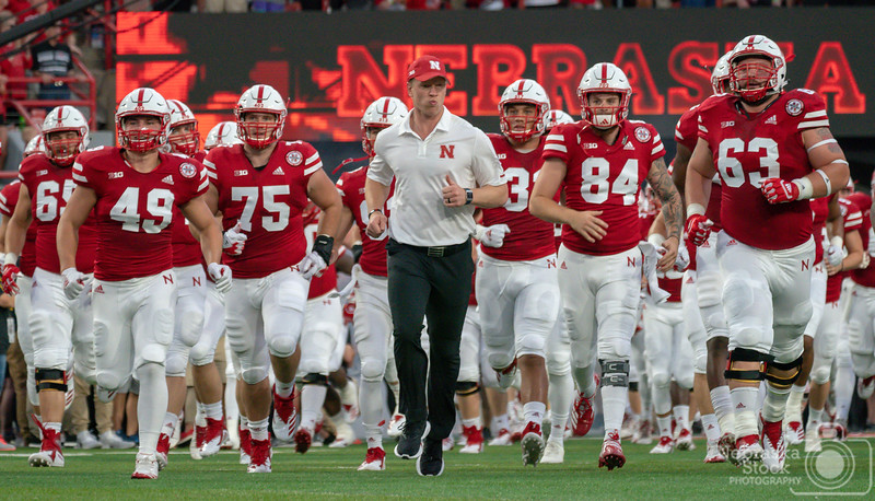 9-01-2018<br /> 244/365<br /> The Scott Frost era has officially started at Nebraska. Well, sort of. It lasted one play -- the kick off -- before Mother Nature called an audible.<br /> Photo taken with a Sony A9 with a Sony FE 100-400<br /> ISO 5000<br /> 1/800th at F8<br /> Picture No. 145739