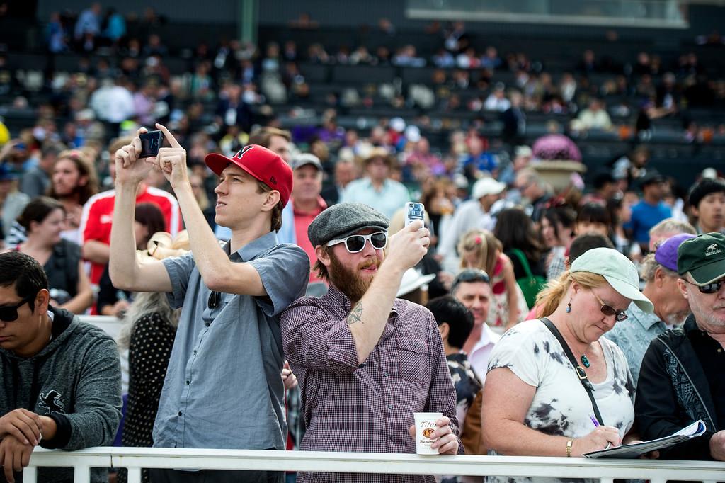 . The 2014 Breeders� Cup World Championships is held at Santa Anita Park in Arcadia, Calif., on Saturday, November 1, 2014. (Photo by Sarah Reingewirtz/Pasadena Star-News)