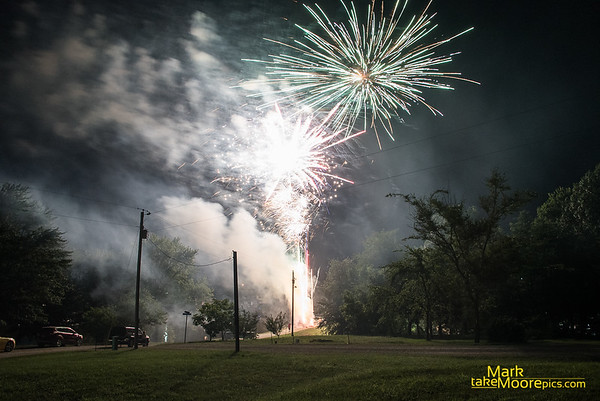 Lake 7 Falls 2018 Fireworks Display sponsored by the Holt's