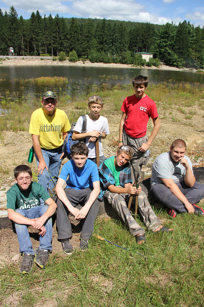 Tamaqua Boy and Cub Scouts Revitalizing Owl Creek Reservoir, South Tamaqua (8-24-2013)