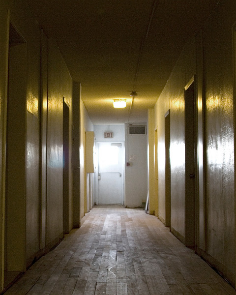 hallway in the Smoky Lake in - looks like a scary movie