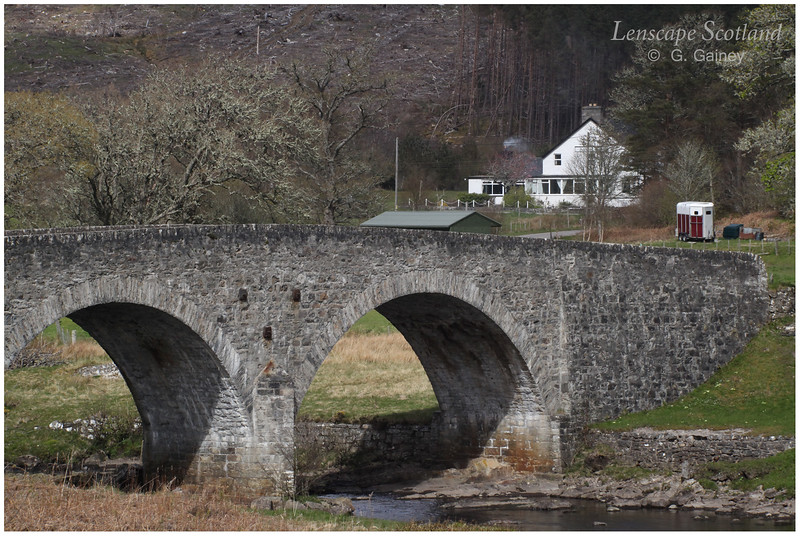 Rosehall Bridge (River Cassley) and Achness Hotel