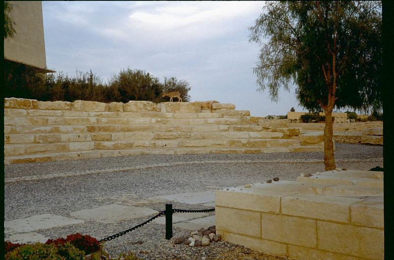 Ben Gurion's tomb in the Negev