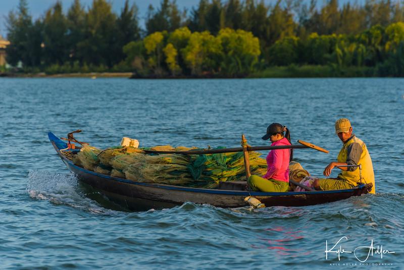 Cruising on the Thu Bon River outside Hoi An.
