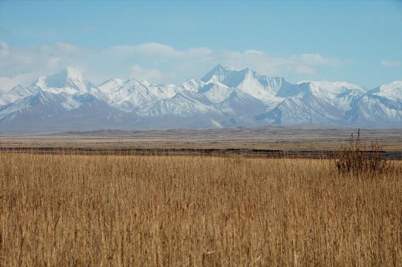 Lenin Peak, Autumn Fields - Sary Tash to Sary Moghul, Kyrgyzstan
