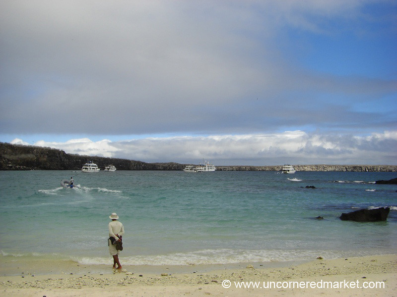 Waiting at Darwin Bay - Galapagos Islands