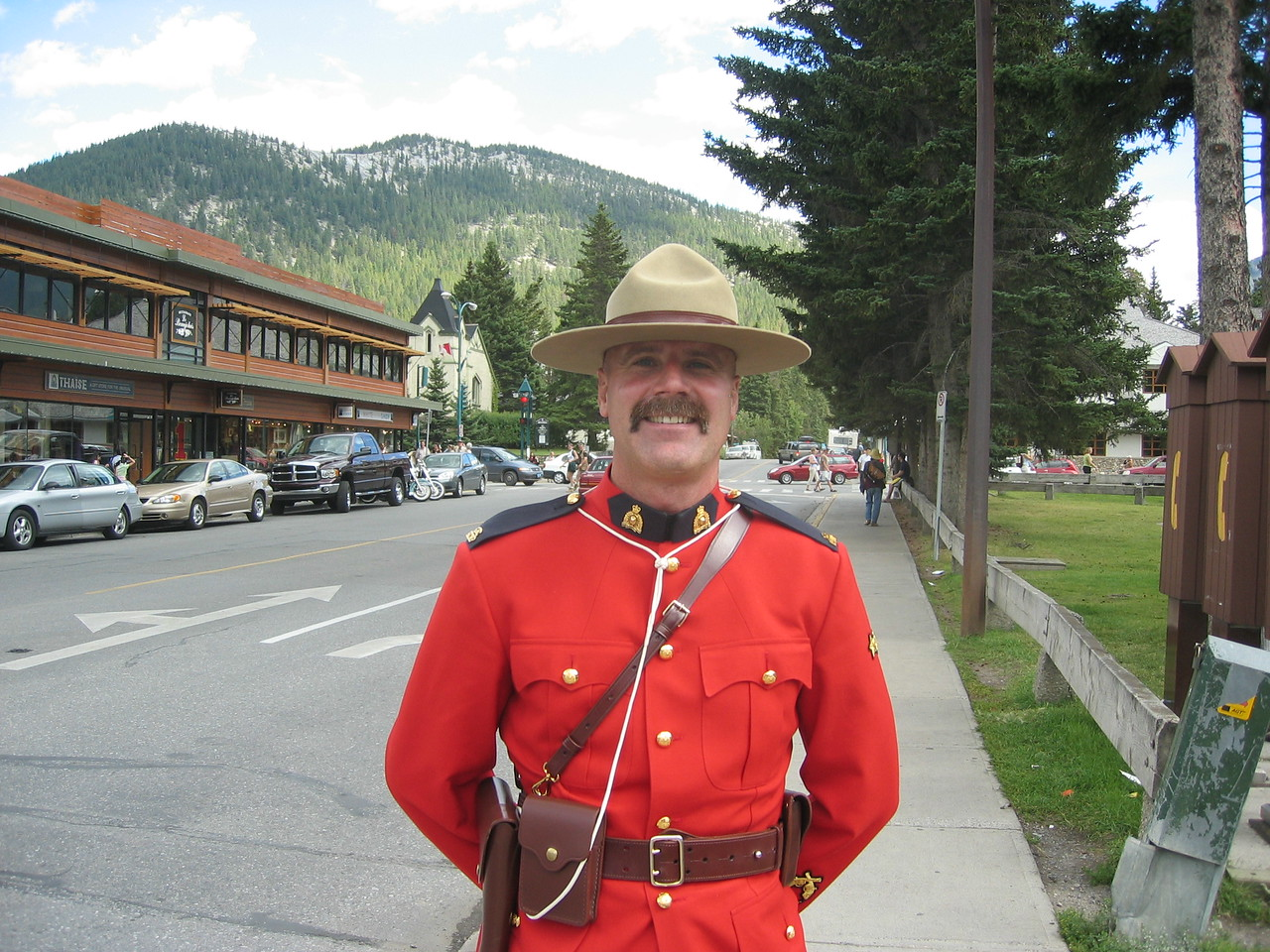 Mountie in Jasper, Alberta