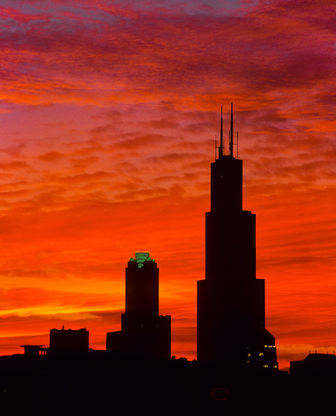 Sears Tower Willis Tower at sunset