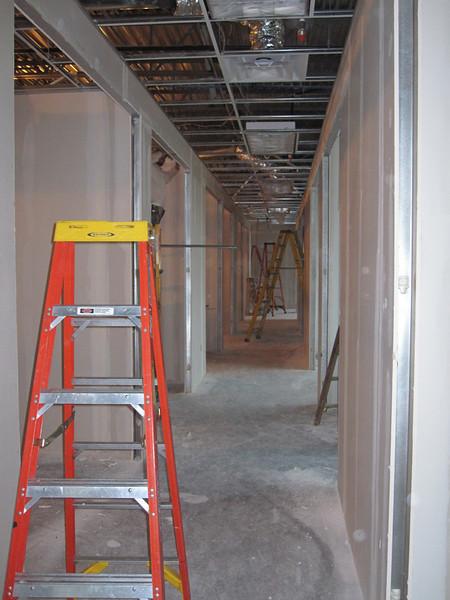 2009-02-04 Drywall and doorframe progress