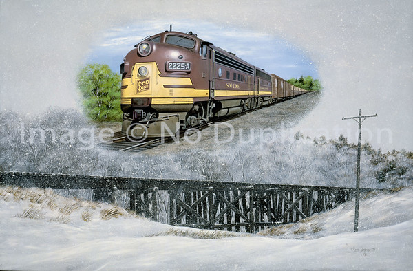 RAILROAD ART ... TRAINS