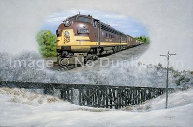 RAILROAD ART ... TRAINS