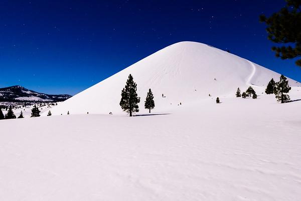 Winter in Lassen Volcanic NP