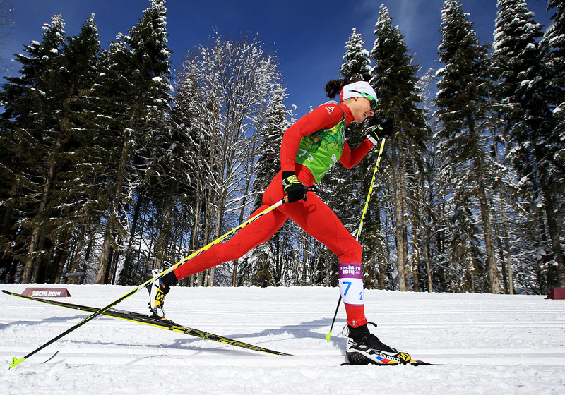 . Seraina Boner of Switzerland competes in the Women\'s Team Sprint Classic Semifinals during day 12 of the 2014 Sochi Winter Olympics at Laura Cross-country Ski & Biathlon Center on February 19, 2014 in Sochi, Russia.  (Photo by Richard Heathcote/Getty Images)