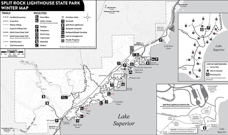 Split Rock Lighthouse State Park (Winter Map)