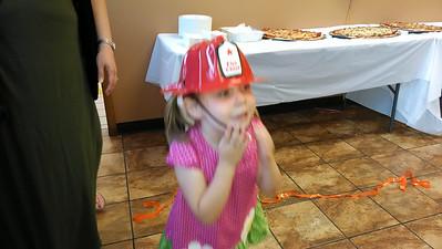 Maddie vs. the fireman's hat