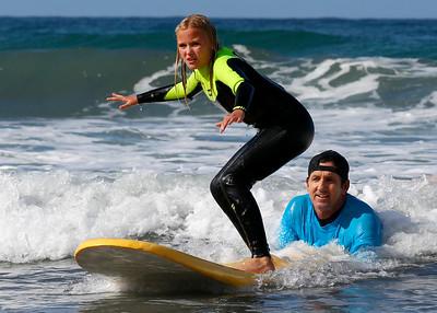 2017_09_23 Surf Camp 14 Girl Long Blonde Hair WS Black wYellow