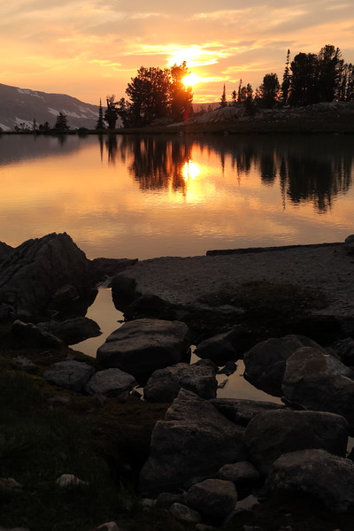 Sunset Lake at sunset