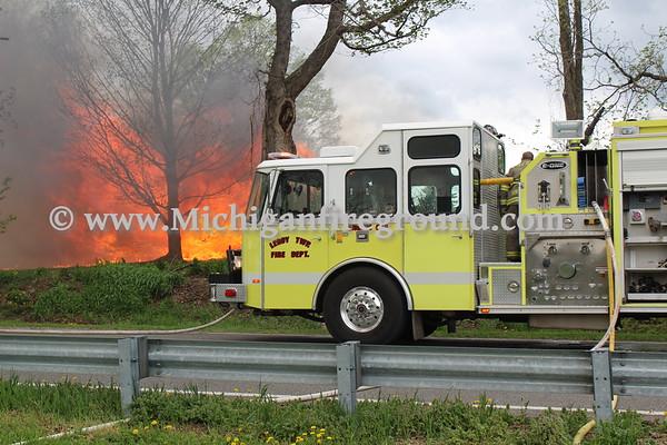 5/10/18 - Leroy Twp prescribed burn, 2595 Dietz Rd