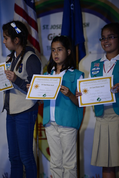 Girl Scouts Awards Ceremony  11-13-2014