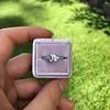 1.19ct Art Deco Carre Cut Diamond Solitaire 17