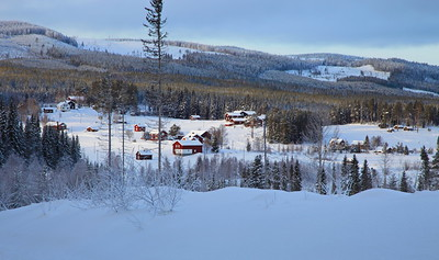 Swedish village in winter